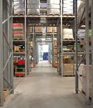 A clean warehouse with racking. Image HSE
